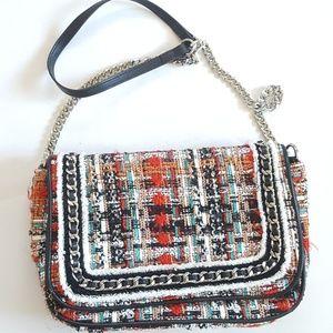 Zara Multicolored Tweed Bag